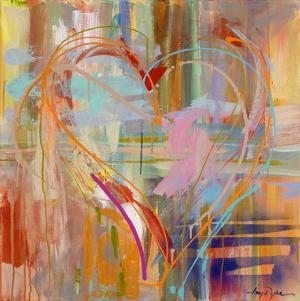 Abstract Heart by Amy Dixon