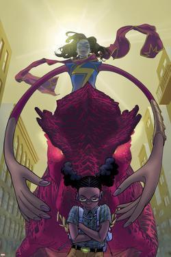 Moon Girl and Devil Dinosaur #10 Cover Art Featuring Ms. Marvel, Devil Dinosaur, Moon Girl & More by Amy Reeder