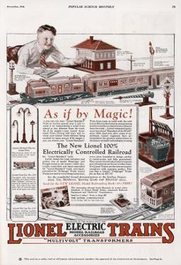 An Advertisement for the New Lionel 100% Elecrically Controlled Railroad
