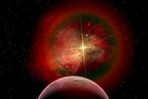 An Alien Planet and its Nebulous Sun