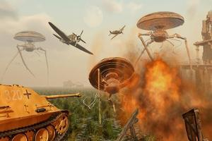 An Alternate Reality Where Allied and German Forces Unite in Fighting an Alien Invasion