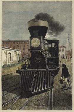 An American Locomotive Engine and Cow Catcher
