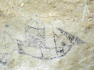An archaic Maori rock drawing