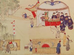 An Archery Contest, Late 18th Century, (Colour on Silk)