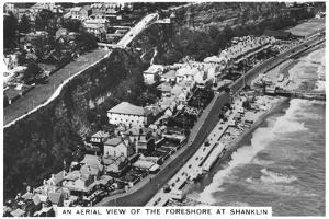 An Arial View of the Foreshore at Shanklin, 1936