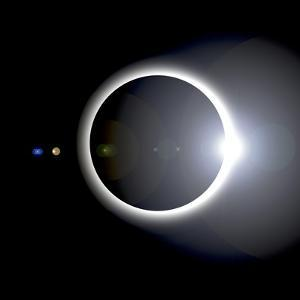 An Artist's Depiction of a Solar Eclipse