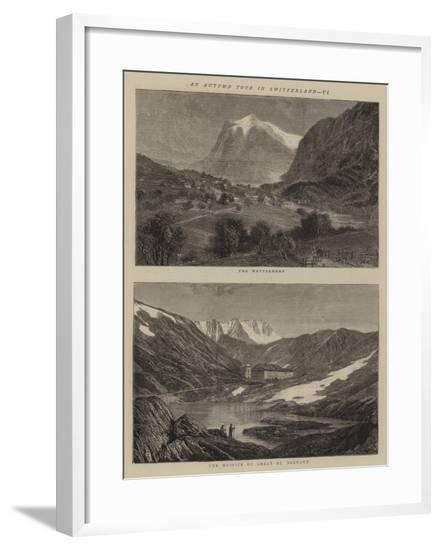 An Autumn Tour in Switzerland, VI--Framed Giclee Print