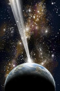 An Earth-Like Planet Facing an Imminent Collision with a Comet