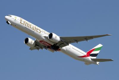 An Emirates Boeing 777-200 Airliner