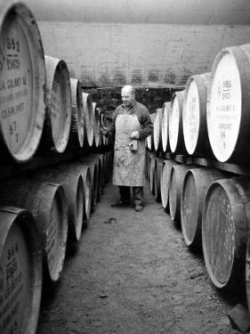 An Employee of the Knockando Whisky Distillery in Scotland, January 1972