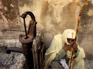 An Ethiopian Orthodox Christian Woman Pilgrim Rests