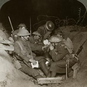 An Evening in the Reserve Trenches at Beaumont Hamel, France, World War I, 1914-1918