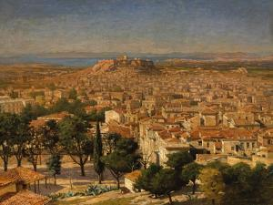 An Extensive View of Athens with the Acropolis, Greek School