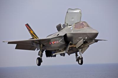 An F-35 Lightning Ii Prepares for Landing