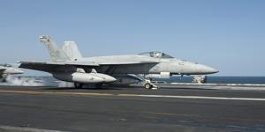 An F-A-18E Super Hornet Launches from the Flight Deck of USS Harry S. Truman