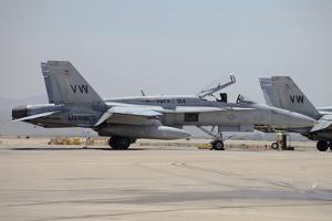 An FA-18C Hornet at Marine Corps Air Station Miramar, California