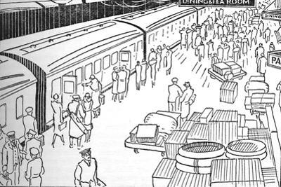 An Illusttration of a 1930S Railway Station, 1937