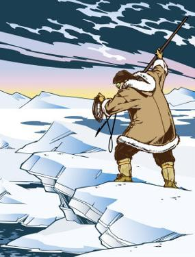 An Inuit Spear Hunting
