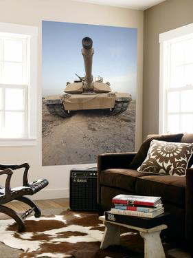 An M-1A1 Main Battle Tank Casts a Daunting Image in the Desert Near Dra Digla, Iraq
