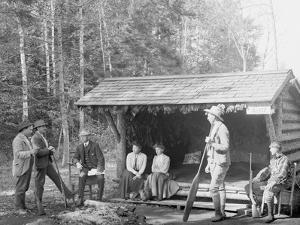 An Open Camp in the Adirondacks, New York