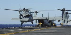 An Sh-60 Sea Hawk Lands on the Flight Deck Aboard USS Bataan