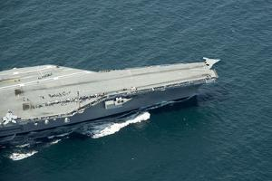 An X-47B Unmanned Combat Air System Launches from USS George H.W. Bush
