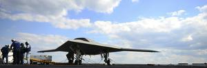 An X-47B Unmanned Combat Air System on the Flight Deck of USS George H.W. Bush
