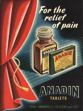 Anadin, Medicine Tablets Medical, UK, 1940