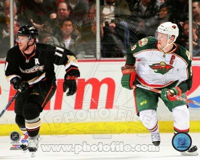 Anaheim Ducks, Minnesota Wild - Saku Koivu, Mikko Koivu Photo