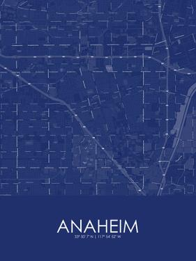 Anaheim, United States of America Blue Map