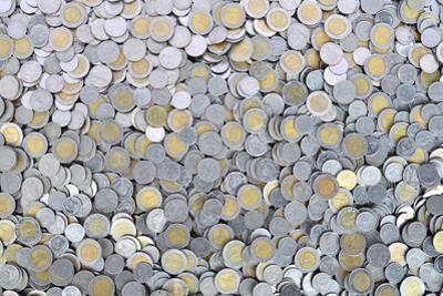 Thai Baht Coins by Anan Kaewkhammul