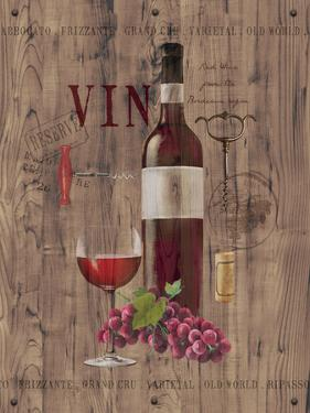 Red Wine on Reclaimed Wood by Anastasia Ricci
