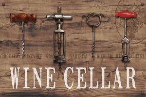 Wine Cellar Reclaimed Wood Sign by Anastasia Ricci