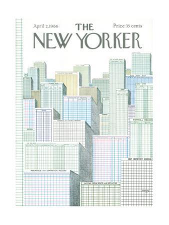 The New Yorker Cover - April 2, 1966 by Anatol Kovarsky