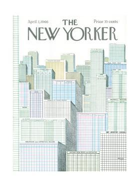 The New Yorker Cover - April 2, 1966 by Anatol Kovarsky