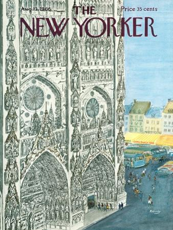 The New Yorker Cover - August 13, 1966 by Anatol Kovarsky