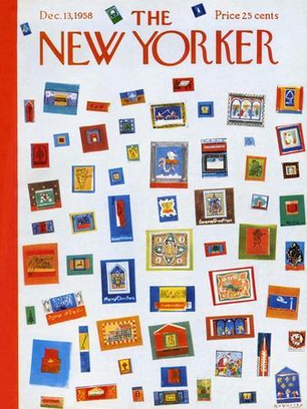 The New Yorker Cover - December 13, 1958 by Anatol Kovarsky