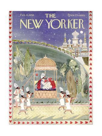 The New Yorker Cover - February 15, 1958 by Anatol Kovarsky