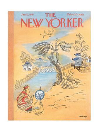 The New Yorker Cover - January 12, 1957 by Anatol Kovarsky