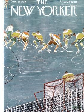 The New Yorker Cover - November 21, 1959 by Anatol Kovarsky