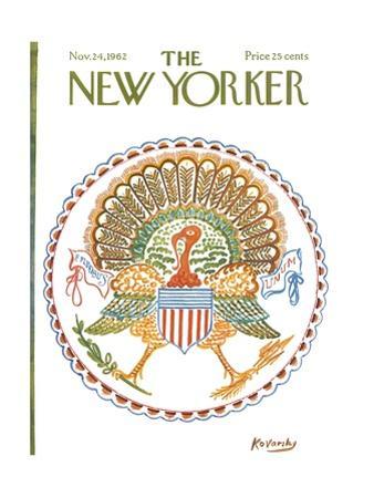 The New Yorker Cover - November 24, 1962 by Anatol Kovarsky