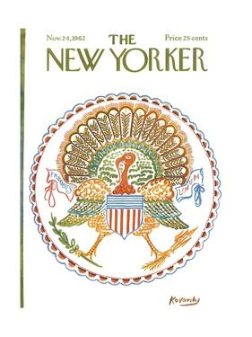 The New Yorker Cover - November 24, 1962 by Anatol Kovarsky
