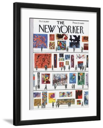 The New Yorker Cover - October 19, 1957 by Anatol Kovarsky