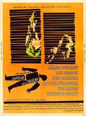 Anatomy of a Murder, Lee Remick, James Stewart on U.S. poster art, 1959