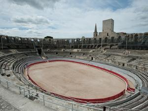 Ancient Amphitheater in a City, Arles Amphitheatre, Arles, Bouches-Du-Rhone, Provence-Alpes-Cote...