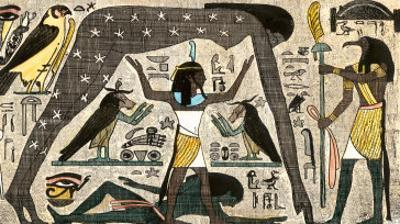 Ancient Egyptian Deities Shu Separating Sibu and Nuit