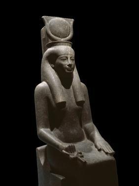 Ancient Egyptian Sculpture Representing the Goddess Hathor