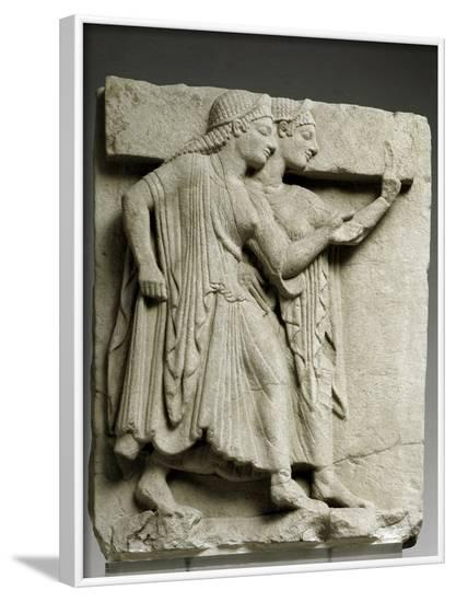 Ancient Greek Metope with Chorus of Young Girls--Framed Photographic Print
