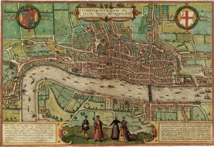 Ancient Map of London 1572