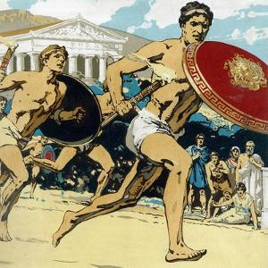 Ancient Olympic Games: the Relay Race, 1922